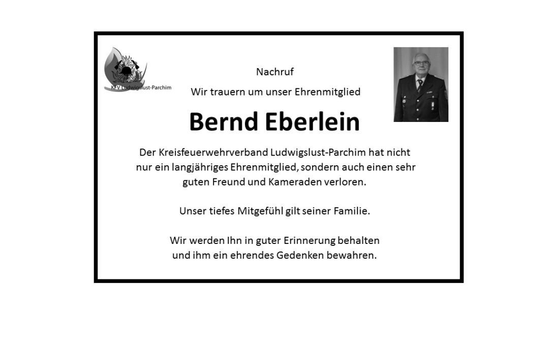 Nachruf Bernd Eberlein